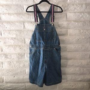 Tommy Hilfiger vintage denim shorts overalls